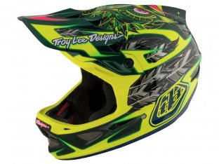 "Troy Lee Designs ""D3 Carbon"" Fullface Helm - Nightfall Green (MIPS)"
