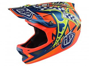 "Troy Lee Designs ""D3"" Fullface Helm - Longshot Orange"