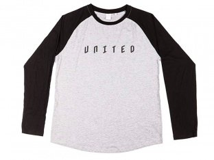 "United Bikes ""Baseball"" Longsleeve - Grey/Black"