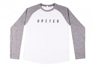 "United Bikes ""Baseball"" Longsleeve - White/Grey"