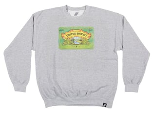 "United Bikes ""Seamus IPA Crew Neck"" Pullover - Heather Grey"