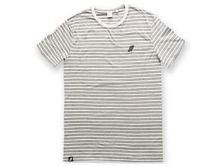 "United Bikes ""Stripe"" T-Shirt - White/Grey"