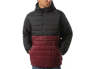 "Vans ""Carlton Puffer"" Anorak Jacket - Black-Port Royale"