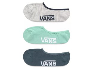 "Vans ""Classic Super No Show"" Socks (3 Pair) - Dusty Jade Green Assorted"