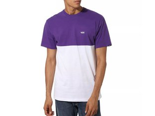 "Vans ""Colorblock"" T-Shirt - White/Heliotrope"