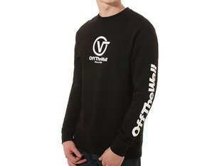 "Vans ""Distorted Performance Crew"" Pullover - Black/White"