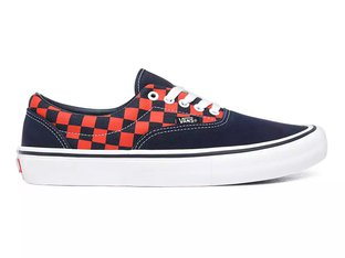 "Vans ""Era Pro"" Shoes - (Checkerboard) Navy/Orange"