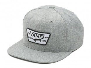 "Vans ""Full Patch Snapback"" Cap - Heather Grey"