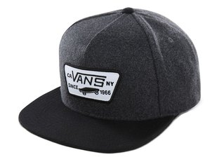 "Vans ""Full Patch Snapback"" Kappe - Asphalt Black"