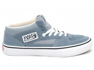 "Vans ""Half Cab Pro"" Shoes - Goblin Blue/White"