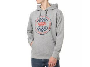 "Vans ""OG Checker"" Hooded Pullover - Cement Heather"