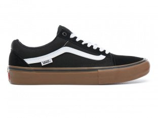 "Vans ""Old Skool Pro"" Shoes - Black/White/Medium Gum"