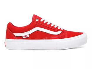 "Vans ""Old Skool Pro"" Schuhe - (Suede) Red/White"