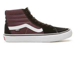 "Vans ""Sk8-Hi Pro"" Shoes - Black/Raisin"