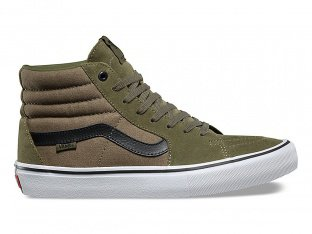 "Vans ""Sk8-Hi Pro"" Shoes - Burnt Olive/Black (Dakota Roche)"