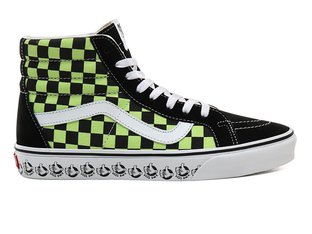 "Vans ""Sk8-Hi Reissue"" Shoes - (Vans BMX) Black/Sharp Green"