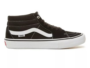 "Vans ""Sk8-Mid Pro"" Shoes - Black/White"