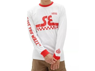 Vans X SE Bikes Longsleeve - (SE Bikes) White-High Risk Red