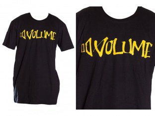 "Volume Bikes ""Script Staple"" T-Shirt - Black/Yellow"