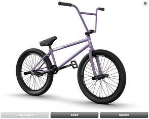 Custom BMX Configurator v2 - Save your configurations