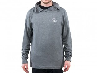 "eclat ""Circle Icon"" Hooded Longsleeve - Dark Heather Grey"