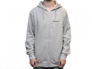 "kunstform ""Conti Back"" Hooded Zipper - Grey"