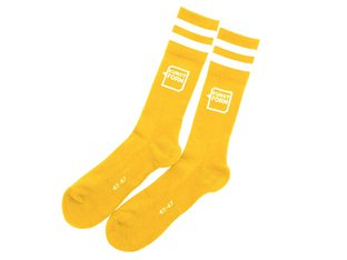 "kunstform ""Logo"" Socks - Yellow"