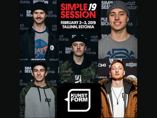 kunstform BMX Team at the Simple Session 2019 in Tallinn