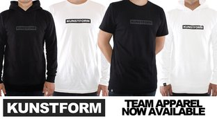 kunstform team apparel - now available