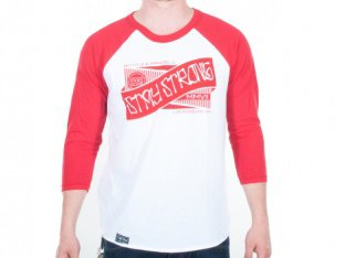 "Stay Strong ""Ribbon Raglan"" 3/4 Longsleeve- white/red"