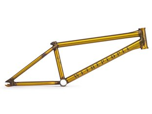 "wethepeople ""Battleship"" 2019 BMX Frame - Matt Trans Yellow"