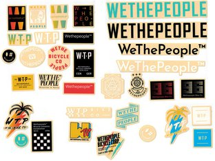 "wethepeople ""Brand"" Stickerset"