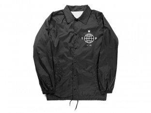 "wethepeople ""Coach"" Windbreaker Jacket - Black"