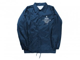 "wethepeople ""Coach"" Windbreaker Jacket - Blue"