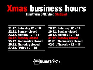 Xmas 2019 - Dates and Business Hours