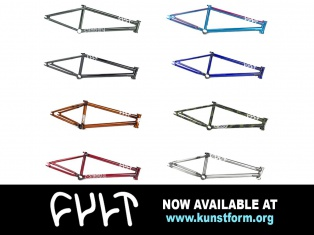 Cult 2018 BMX frames - Now available!