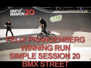 Felix Prangenberg | winning run BMX Street | simple session 20