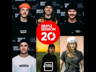 kunstform BMX Team at the Simple Session 2020 in Tallinn