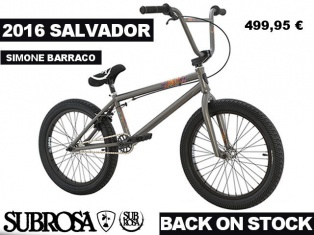 Subrosa Salvador Simone Barraco 2016 BMX Bike, Federal 2016 BMX