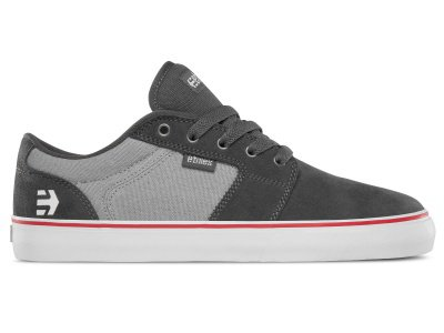 "Etnies ""Barge LS"" Shoes - Dark Grey/Grey/Red"