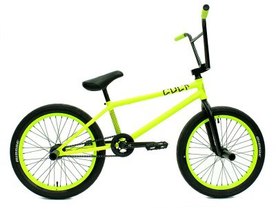 "kunstform ""Cult X eclat"" Custom BMX Rad - Neon Yellow/Black"