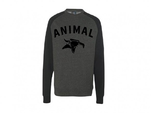 "Animal Bikes ""Serif Crew"" Pullover - Black/Grey"