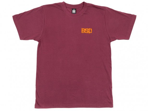 "BSD ""Melting Acid Face"" T-Shirt - Maroon Red"