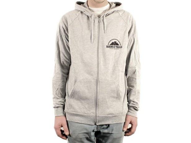 "Barons of Trails ""TrailsTrailsTrails"" Hooded Zipper - Grey"