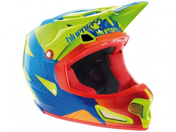 "Bluegrass ""Brave"" Fullface Helmet - Green/Blue/Orange"