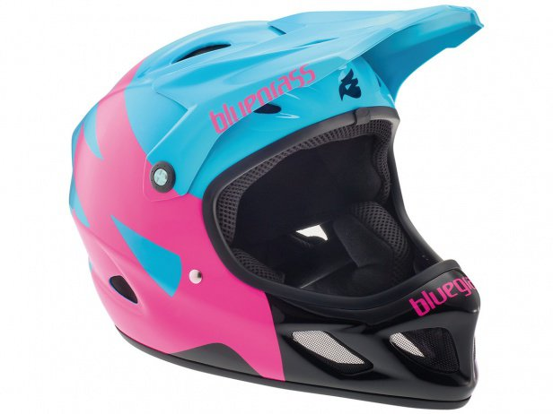 "Bluegrass ""Explicit"" Fullface Helm - Cyan/Magenta/Black"