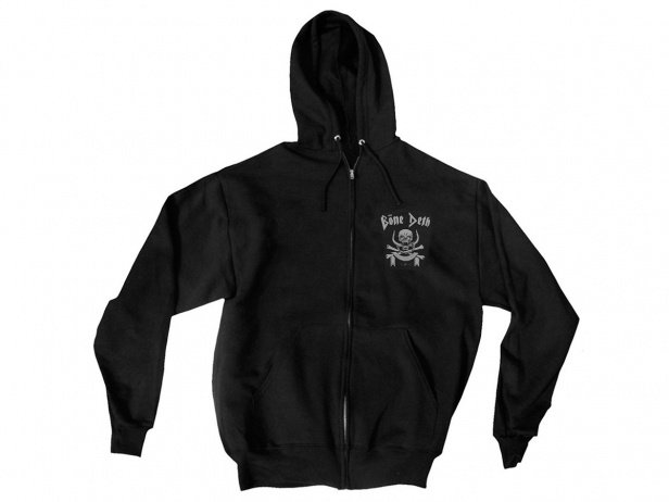 "Bone Deth ""March Or Die"" Hooded Zipper - Black"