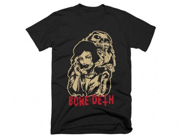 "Bone Deth ""Phonelove"" T-Shirt - Black"
