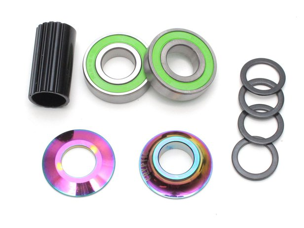 "Cryptic BMX ""Flow Mid BB"" Bottom Bracket - Oilslick"