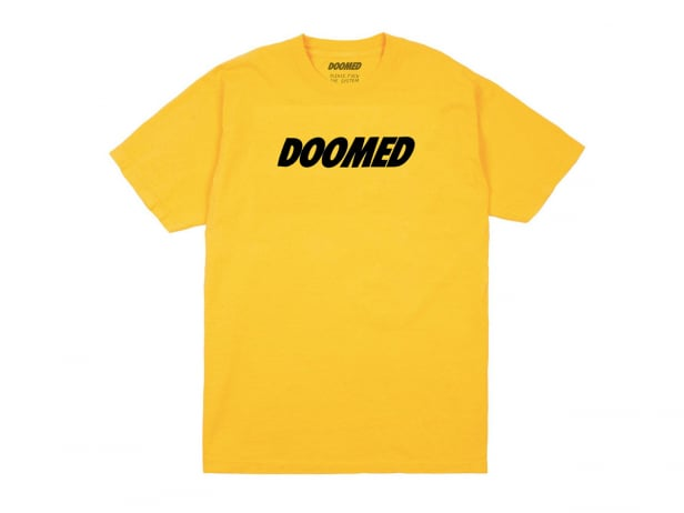 "Doomed Brand ""Basic Logo"" T-Shirt - Yellow"